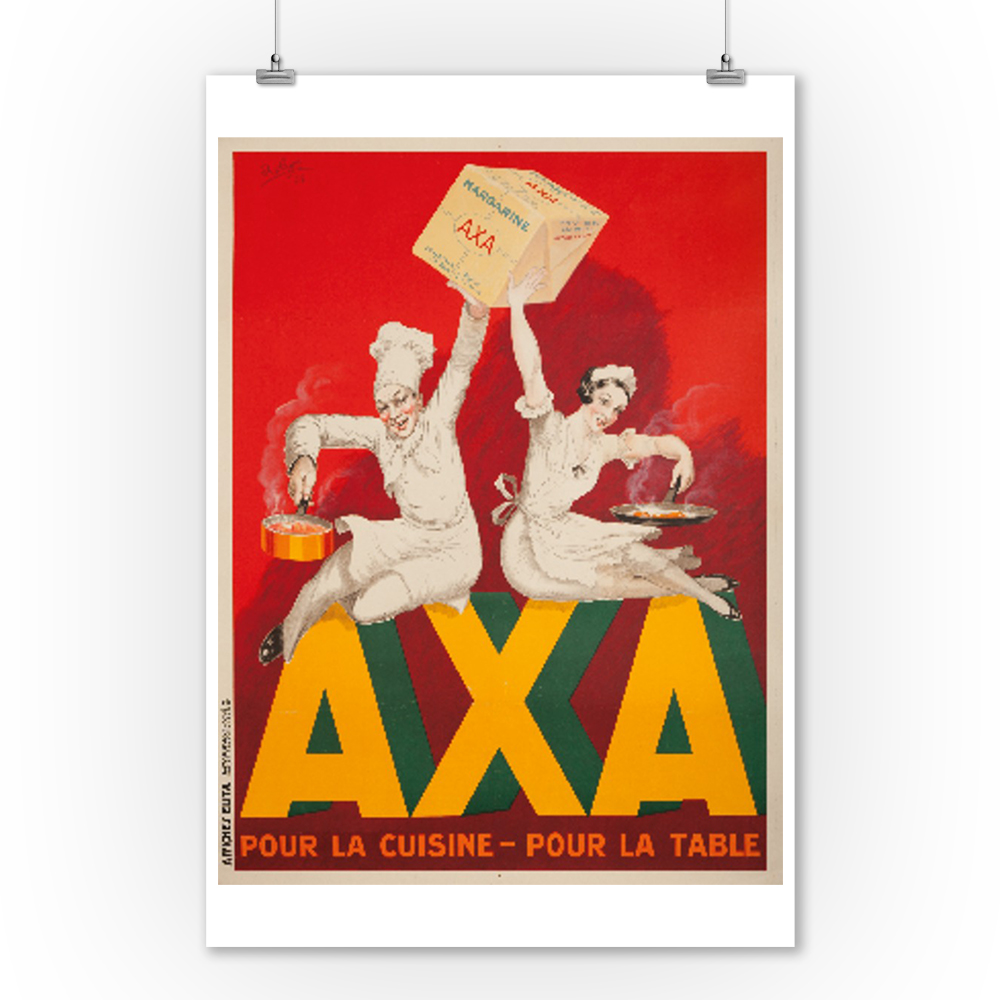 Axa Margarine (small) Vintage Poster (artist: Robys Wolff) France c. 1934 (9x12 Art Print, Wall Decor Travel Poster)