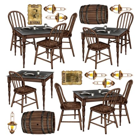 Western Wall Decorations (Club Pack of 180 Western Saloon Table Wall Decorations)