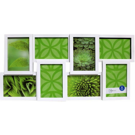 mainstays 8 opening collage frame white