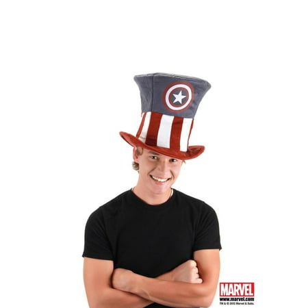 Captain America Adult Costume Top Hat, One Size