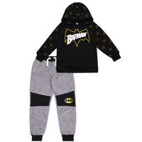 DC Comics Batman Pull Over Hoodie & Fleece Jogger, 2-Piece Outfit Set (Little Boys)