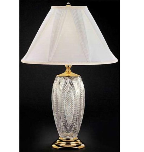 """Waterford REFLECTIONS TABLE LAMP 30"""" - POLISHED BRASS"""