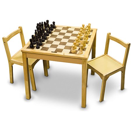 Sterling Games Wooden Chair Set for Chess Table