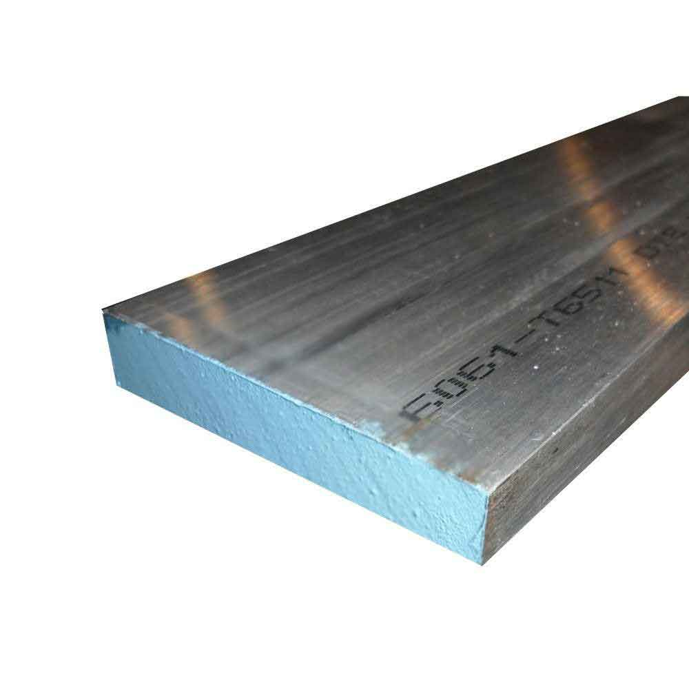 """42/"""" length 1/"""" x 4/'/' Aluminum 6061 Flat Bar"""