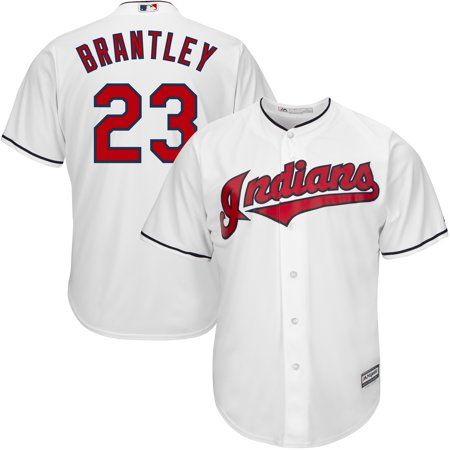 f6c26bdbc Men's Majestic Michael Brantley White Cleveland Indians Home Official Cool  Base Player Replica Jersey - Walmart.com