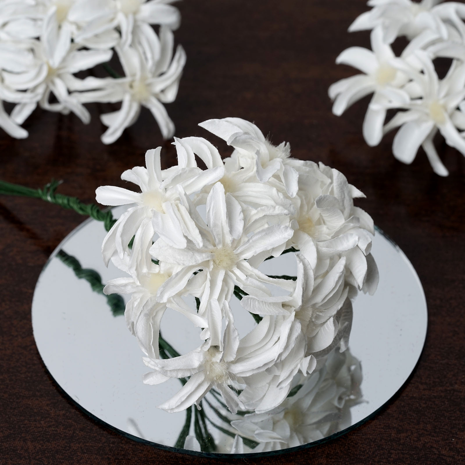 BalsaCircle 72 Craft Paper Lilies - Mini Flowers for DIY Wedding Party Favors Decorations Supplies