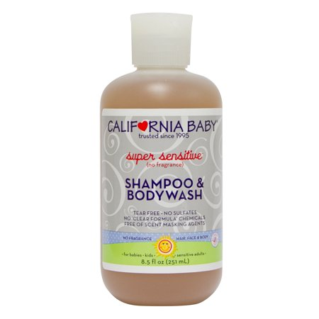 California Baby Super Sensitive Shampoo & Bodywash, 8.5 fl oz
