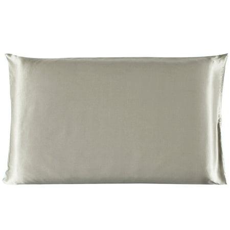 Piccocasa 100% Mulberry Silk Fabric Pillow Case Cover Pillowcase Light Brown /Travel