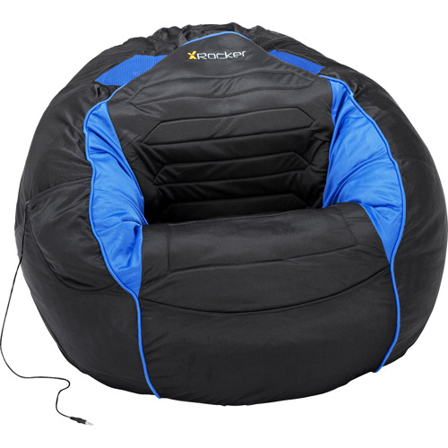 "Kahuna Sound Child Gaming Chair Bean Bag, Black and Blue - 31"" x 30.5"" x 20"""
