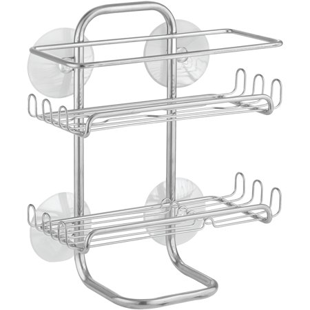 Shower Shell - InterDesign Classico Suction Shower Shelves, Chrome