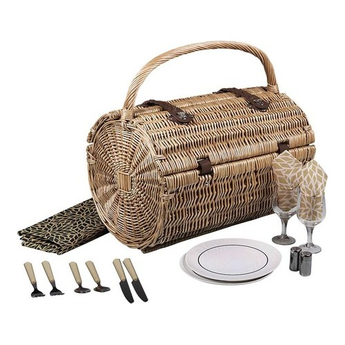 """Picnic Time Barrel Picnic Basket 18.5"""" x 12"""" x 17"""" by Overstock"""