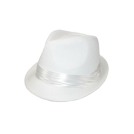 Boys' Dressy Wedding Fedora Hat (White Felt Fedora)