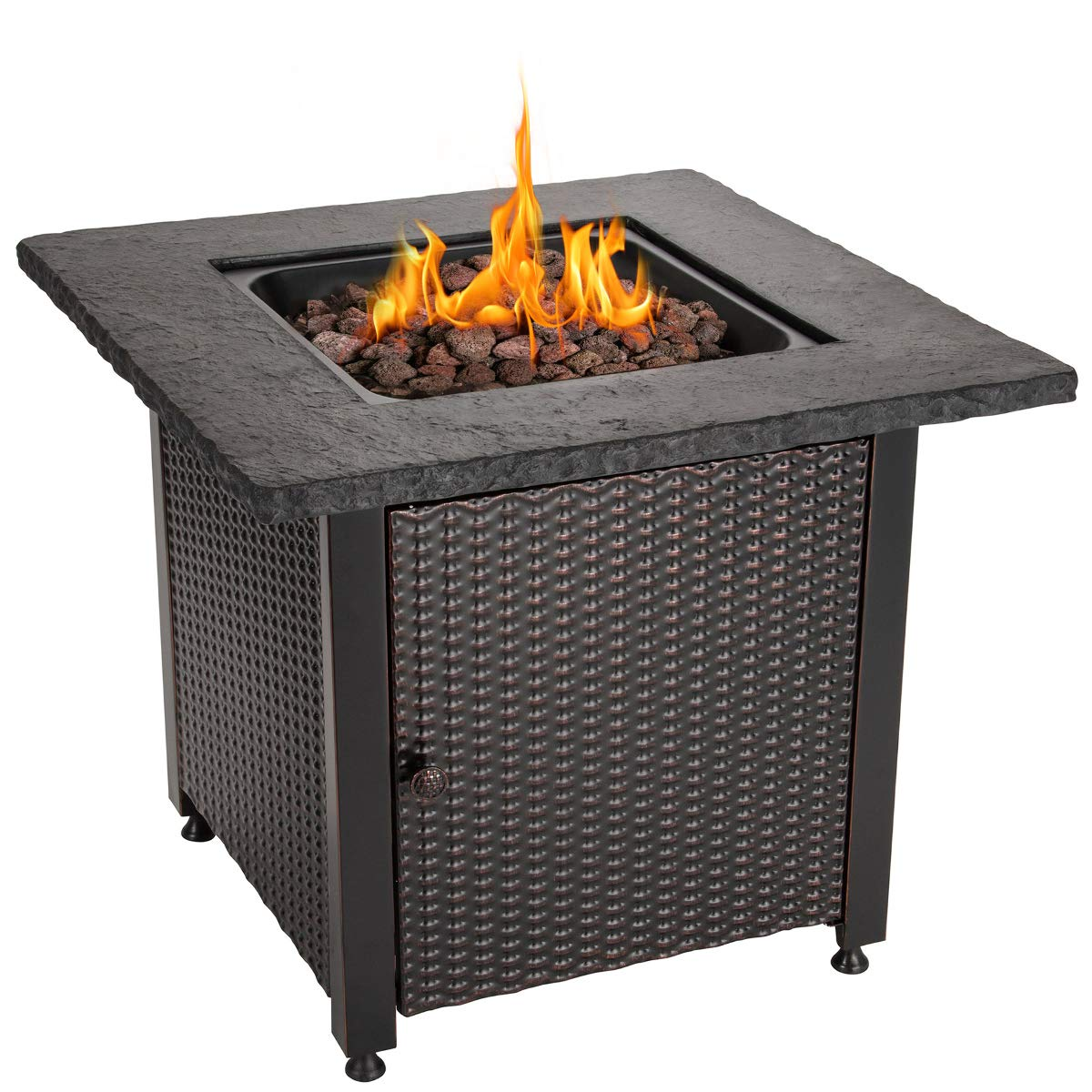 Endless Summer 30 Outdoor Propane Gas Rock Top Fire Pit Lava Rocks Walmart Com Walmart Com