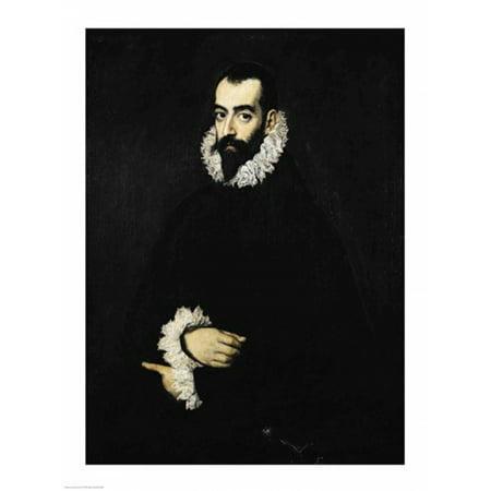 Portrait of Juan Alfonso de Pimentel y Herrera Stretched Canvas - El Greco (18 x - Alfonso Herrera Halloween