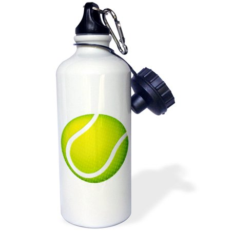 - 3dRose Tennis Typed Text Background, Sports Water Bottle, 21oz