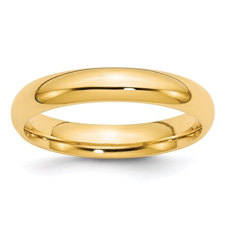 14kt Yellow Gold 4mm Comfort Fit Wedding Ring Band Size 4.00 Classic Domed Cf Style Mm B Width Fine Jewelry Ideal Gifts For Women Gift Set From Heart