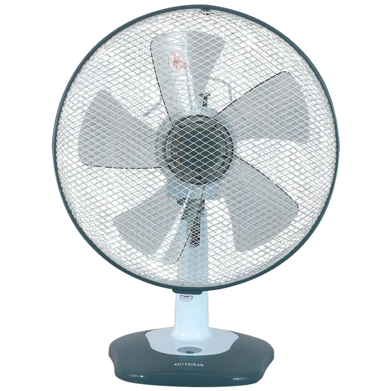 """Optimus F-1212 12"""" Oscillating Table Fan with Soft Touch Switch"""
