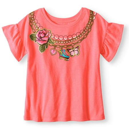 0302ef980 365 Kids From Garanimals - Little Girls' 4-8 Graphic Dolman T-Shirt -  Walmart.com