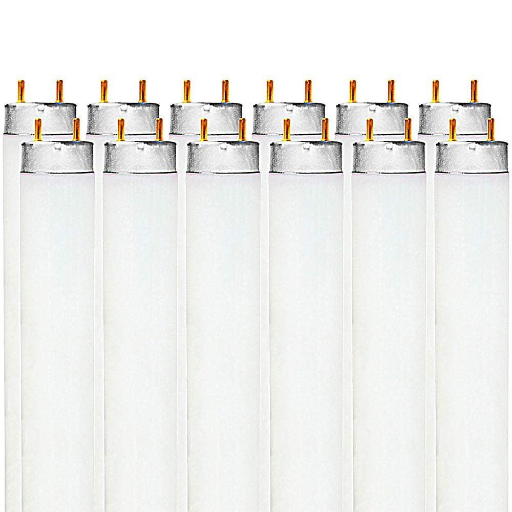 Luxrite F17T8/741 17-Watt 2 FT T8 Fluorescent Tube Light Bulb, 4100K Cool White, 1350 Lumens, G13 Medium Bi-Pin Base (10 Pack)