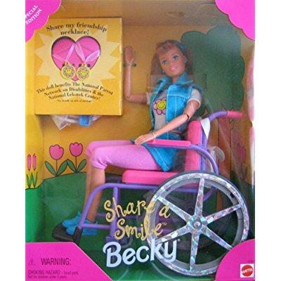barbie becky share a smile special edition doll - A Chelsea Smile