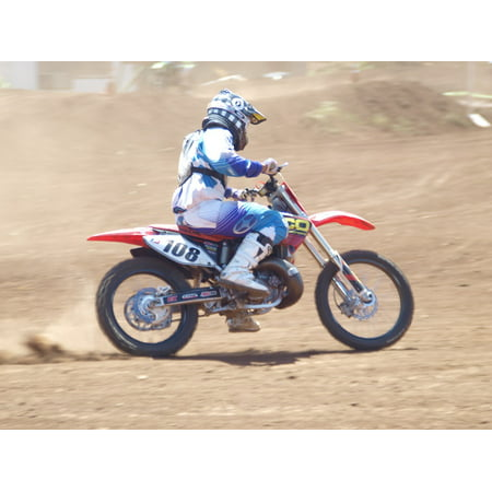 LAMINATED POSTER Speed Dirt Motorcycle Race Bike Sport Dirt Bike Poster Print 24 x 36