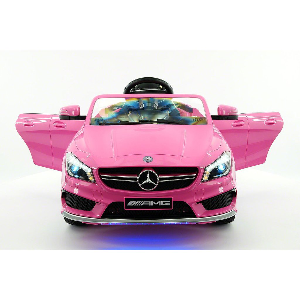 2017 Licensed Mercedes CLA45 AMG, Electric Kids Ride-On Car, Girls&Boys,2-5 Years, MP3 Player, AUX Input, USB, Rubber Tires, PU Leather Seat, LED Body Trim, 12V  Battery, Parental Remote | Pink