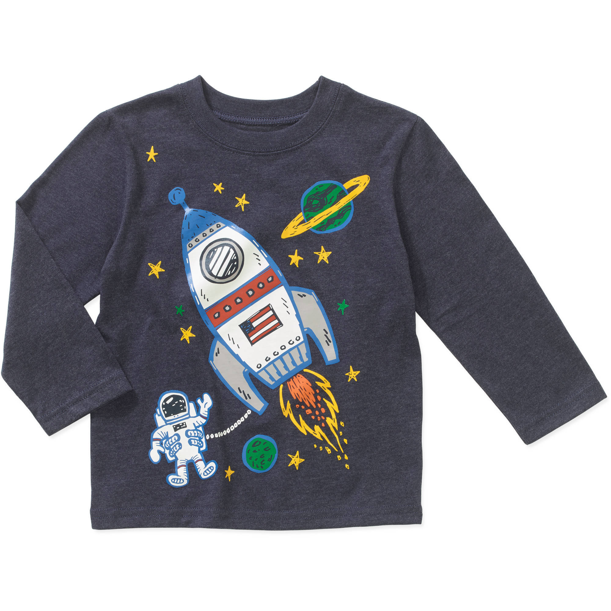 Garanimals Baby Toddler Boys' Long Sleeve Graphic Tee Shirt