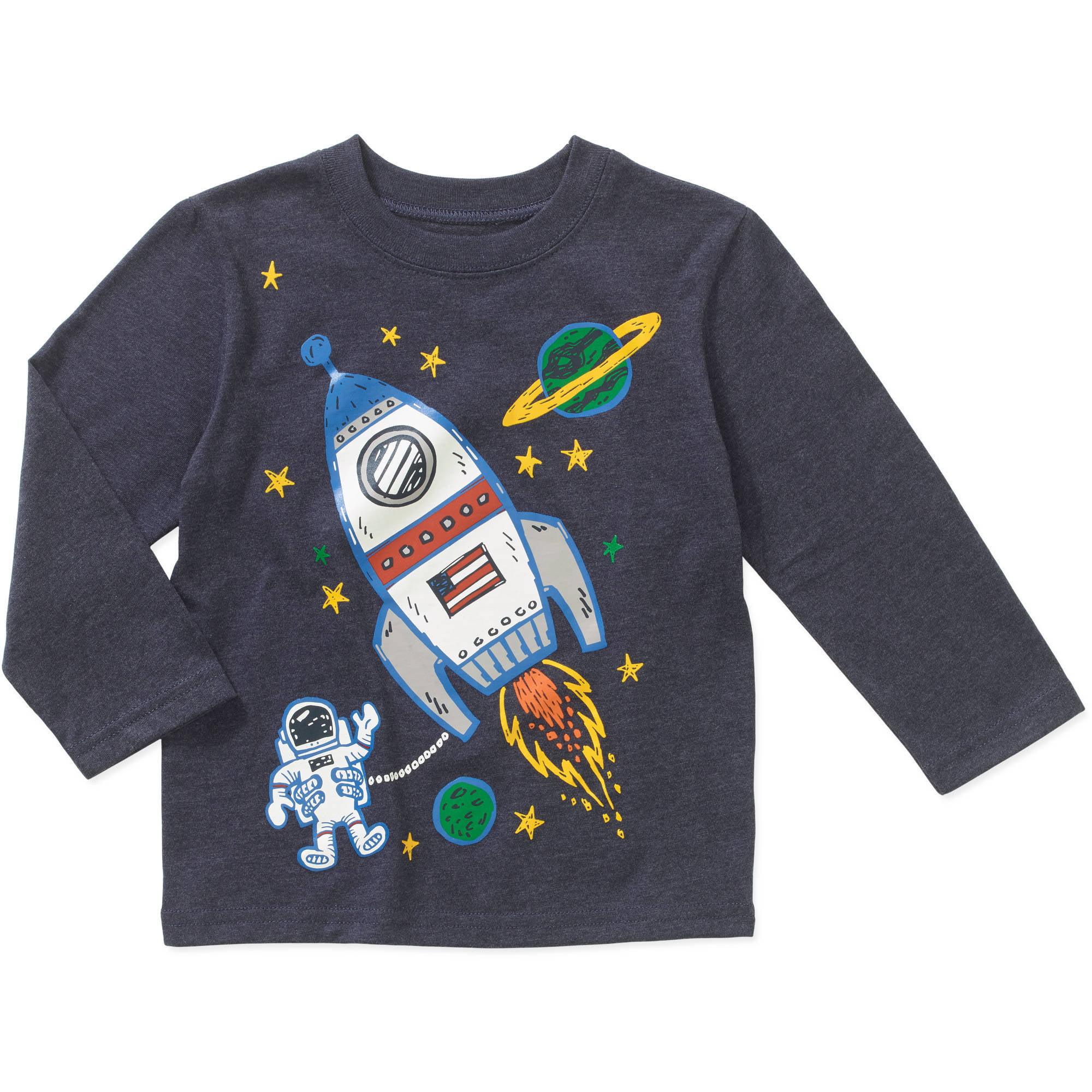 Garanimals Baby Toddler Boys' Long Sleeve Graphic Tee Shirt
