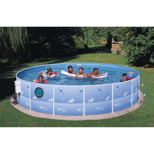 Heritage Round 12' x 36'' Metal Walled Swimming Pool