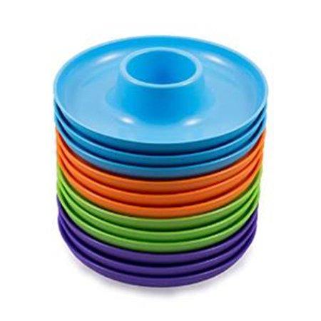 12 Pack Spring - Spring Color Food Beverage Plate, 12 Pack