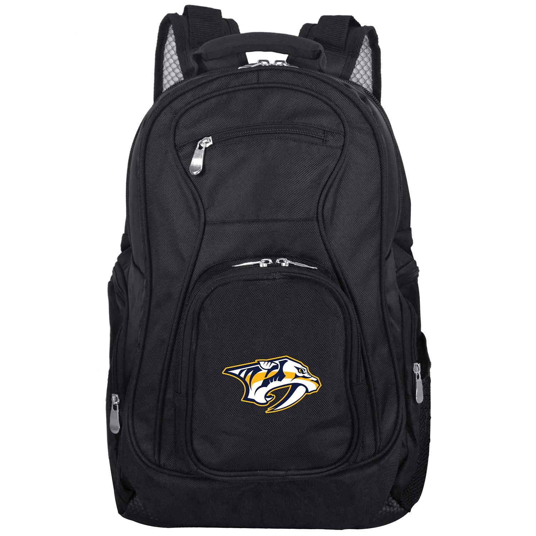 """Nashville Predators 19"""" Laptop Travel Backpack - Black - No Size"""