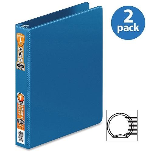 (2 Pack) Wilson Jones, WLJ364147462, 364 Heavy-duty Round Ring Binder, 1 / Each, PC Blue