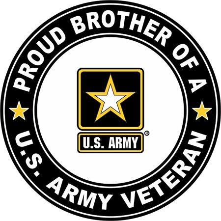 US Army Veteran Proud Brother 11 75 Inch Decal