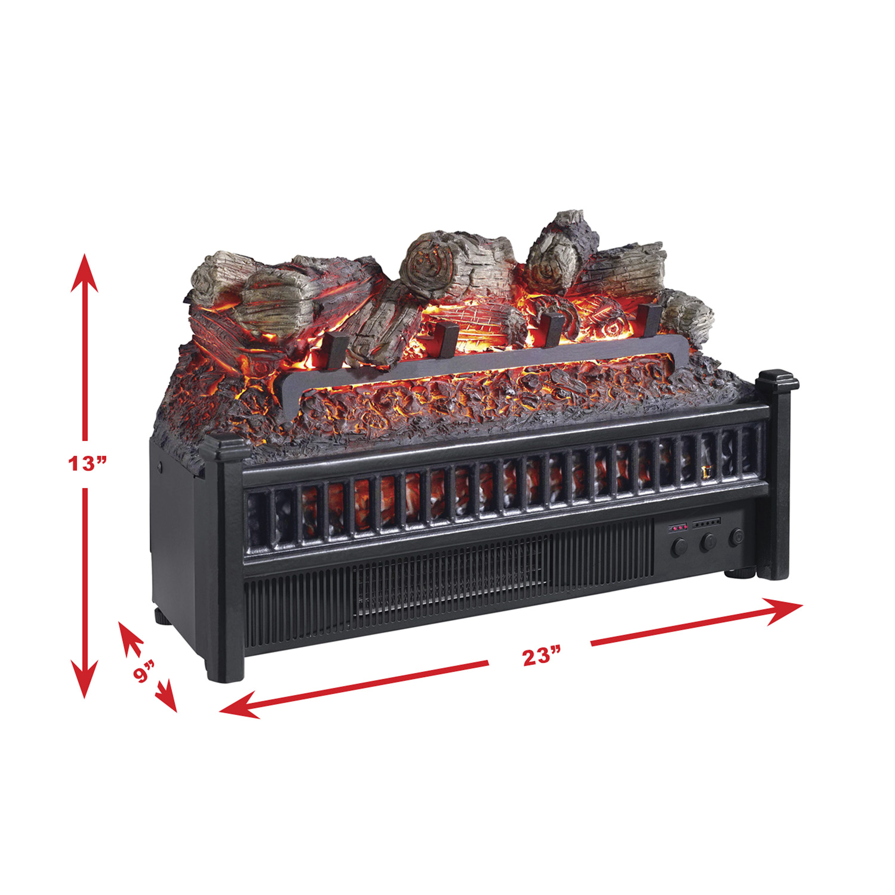 pleasant hearth lh 24 electric log insert with heater walmart com rh walmart com
