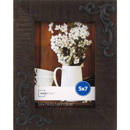Mainstays Western Swirl 5x7 Frame, Medium Brown