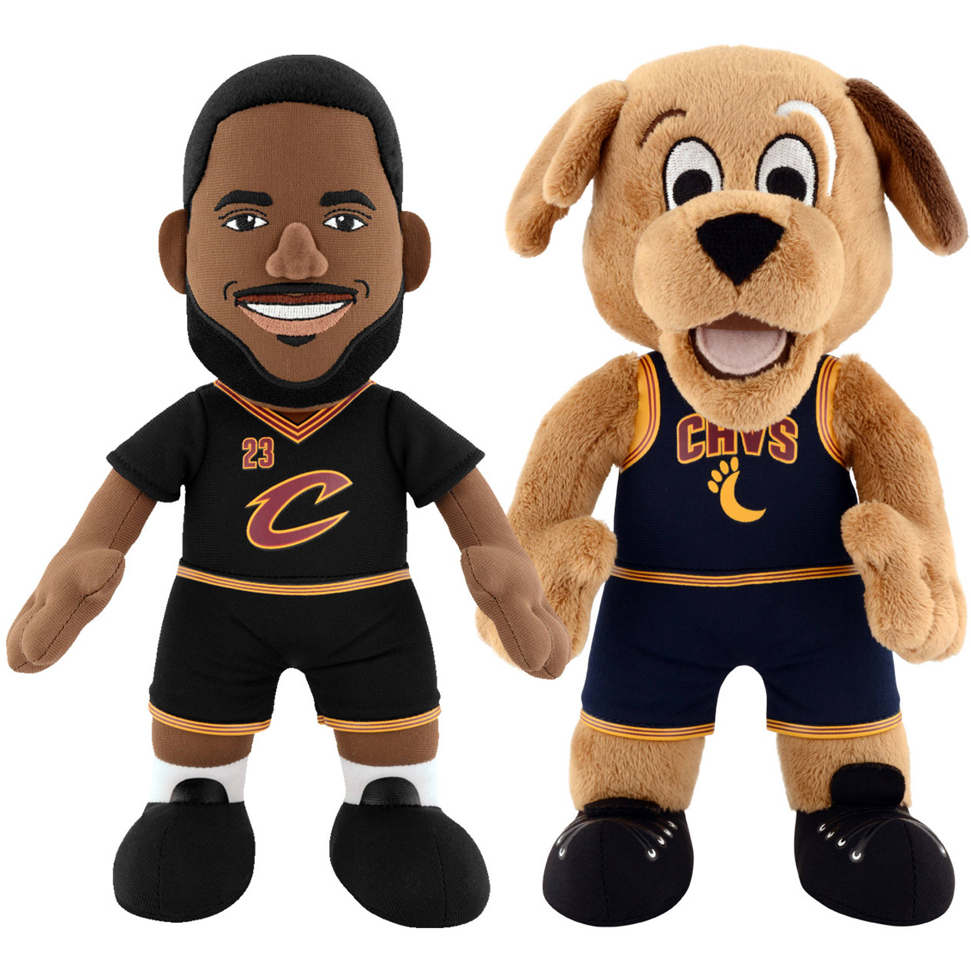 """Bleacher Creatures Dynamic Duo 10"""" Plush Figures, Cavaliers Moondog and Lebron by Generic"""