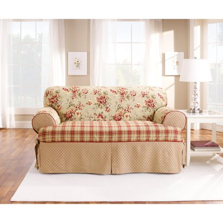 Sure Fit Lexington T-Cushion Sofa Slipcover, Red - Walmart.com