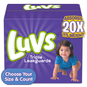 Luvs Triple Leakguards Extra Absorbent Diapers Size 4 144 Ct