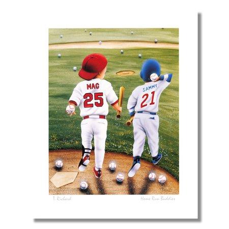 Baseball Home Run Buddies Mark McGwire Sammy Sosa Wall Picture 8x10 Art -