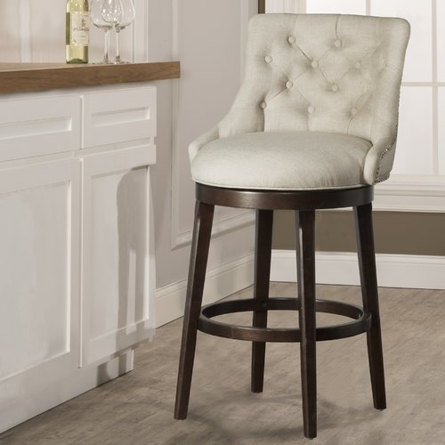 Darby Home Co Daniel 24 Swivel Bar Stool With Cushion Walmartcom
