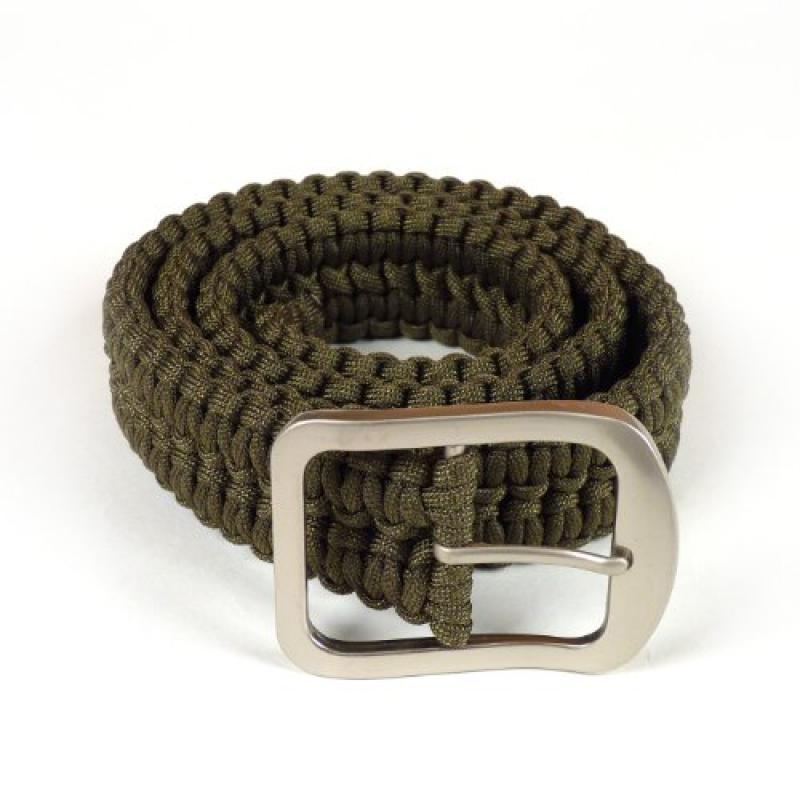 Stone River Gear Paracord Survival Belt, Green, Large