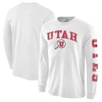Utah Utes Distressed Arch Over Logo Long Sleeve Hit T-Shirt - White