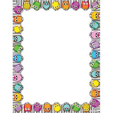 CARSON DELLOSA CD-118117 COLORFUL OWLS COMPUTER - Owl Scrapbook Paper