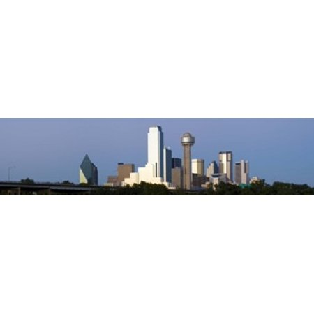 Skyscrapers in a city Reunion Tower Dallas Texas USA Canvas Art - Panoramic Images (20 x 5) ()