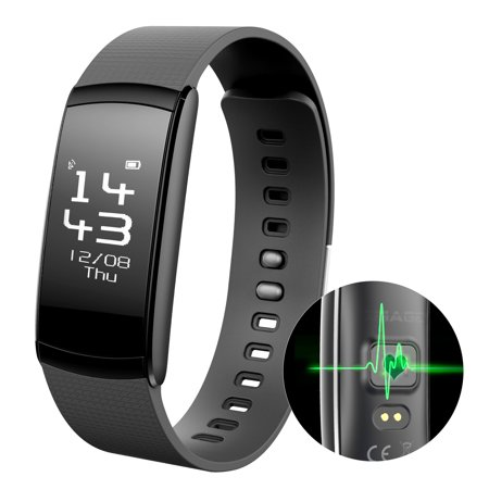Waterproof Smart Fitness Tracker Heart Rate Count Wrist Bracelet Watch Band for