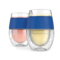 Cooling Pint Glasses, Wine Freeze Blue Double Wall Insulated Cool Pint Glasses