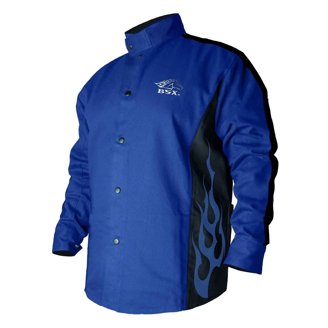 Black Stallion BXRB9C BSX Contoured FR Cotton Welding Jacket, Royal Blue, 4X-LG