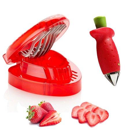 Minch Kitchen Gadgets Strawberry Slicer Cutter Huller Stainless ...