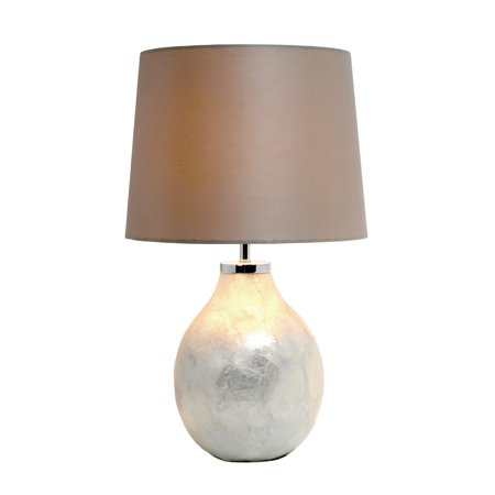 Simple Designs 1 Light Pearl Table Lamp with Fabric Shade - image 2 of 4