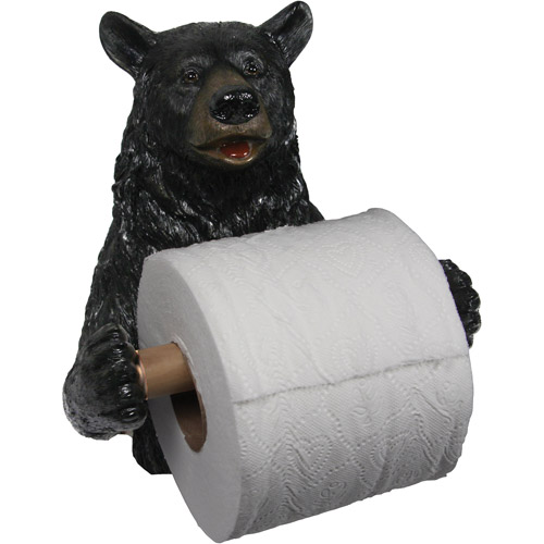 Rivers Edge Products Wallmount Cute Bear Toilet Paper Holder